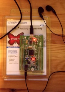 STM32F4-Discovery running an early version of tintdrum